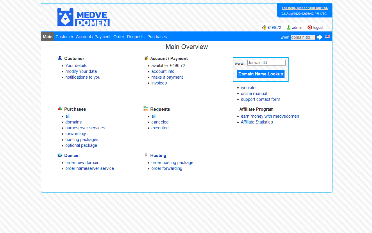 medvedomen.ru customer center